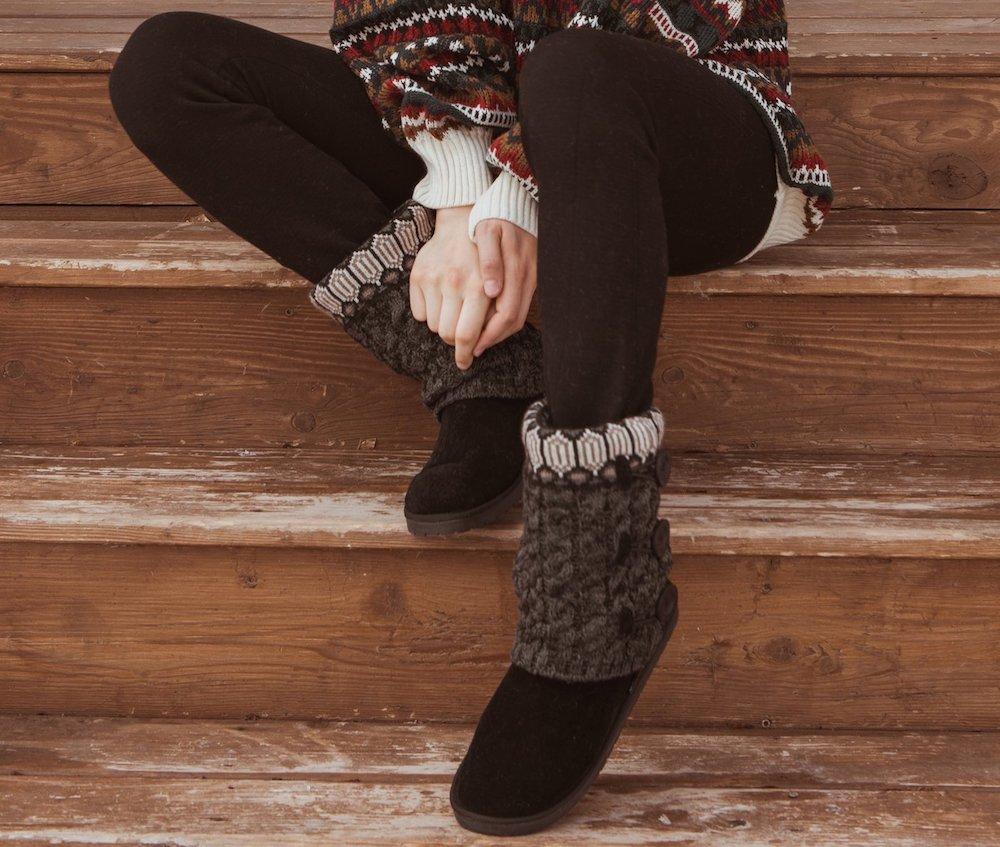 woman wearing Muk Luks Boots