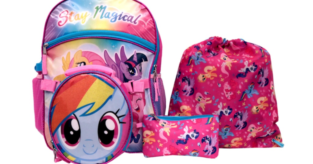 My Little Pony 5-Piece Backpack Set at Kohls