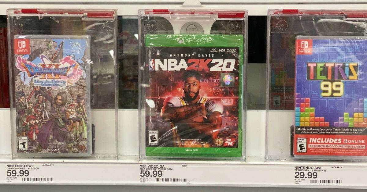 NBA 2K20 Xbox One on store shelf