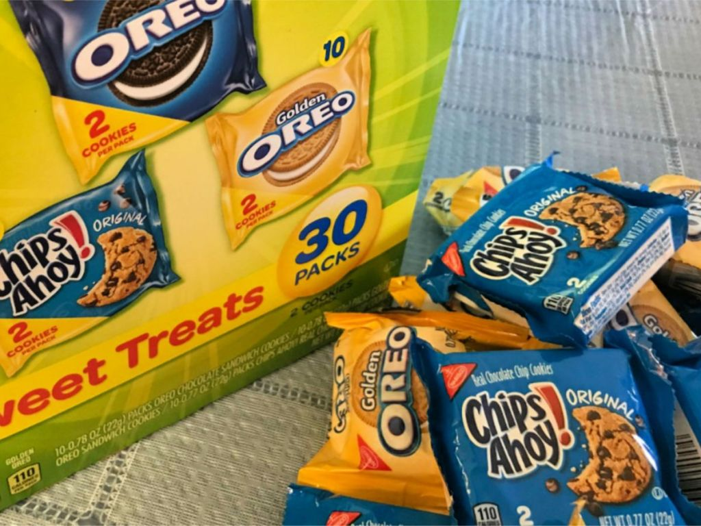 Nabisco Cookies chips ahoy and oreos