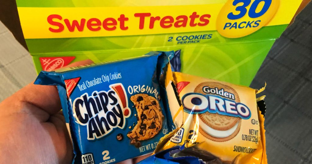 Nabisco Cookies chips ahoy and golden oreos