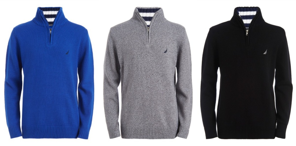 Nautica boys sweaters in blue, gray and black
