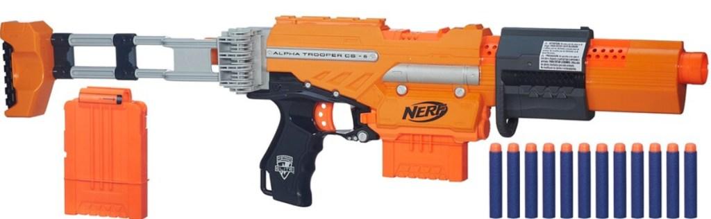 nerf blaster and ammo