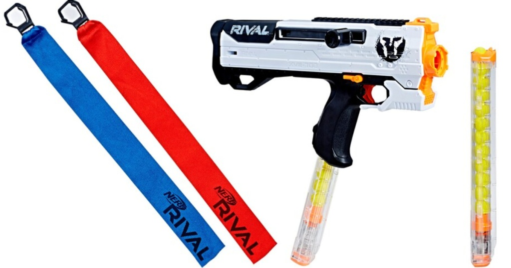 nerf rival blaster and accessories