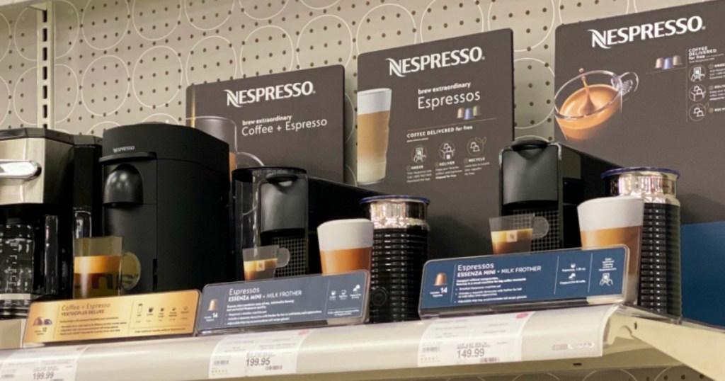 Nespresso Coffee Makers on Target shelf