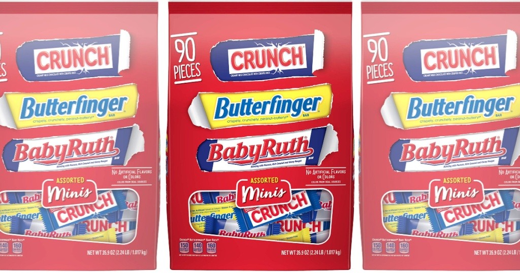 Nestle Minis Butterfinger, Crunch & Baby Ruth Assorted 90-count, 40-oz Bag