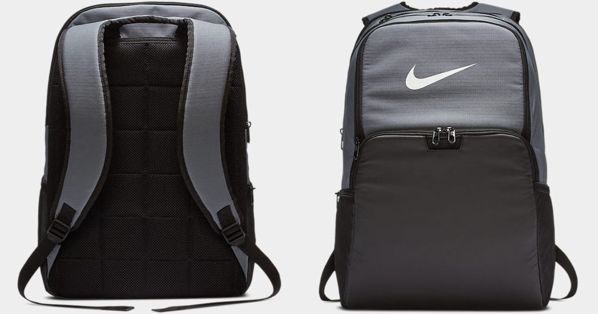 Nike Brasilia back pack, front and back view