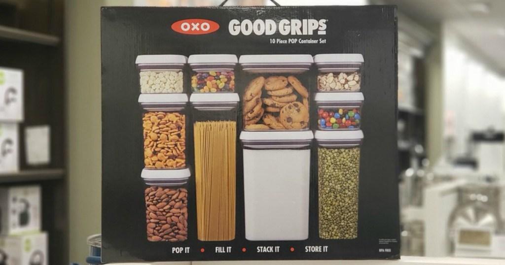 OXO Pop 10-Piece Food Storage Container Set