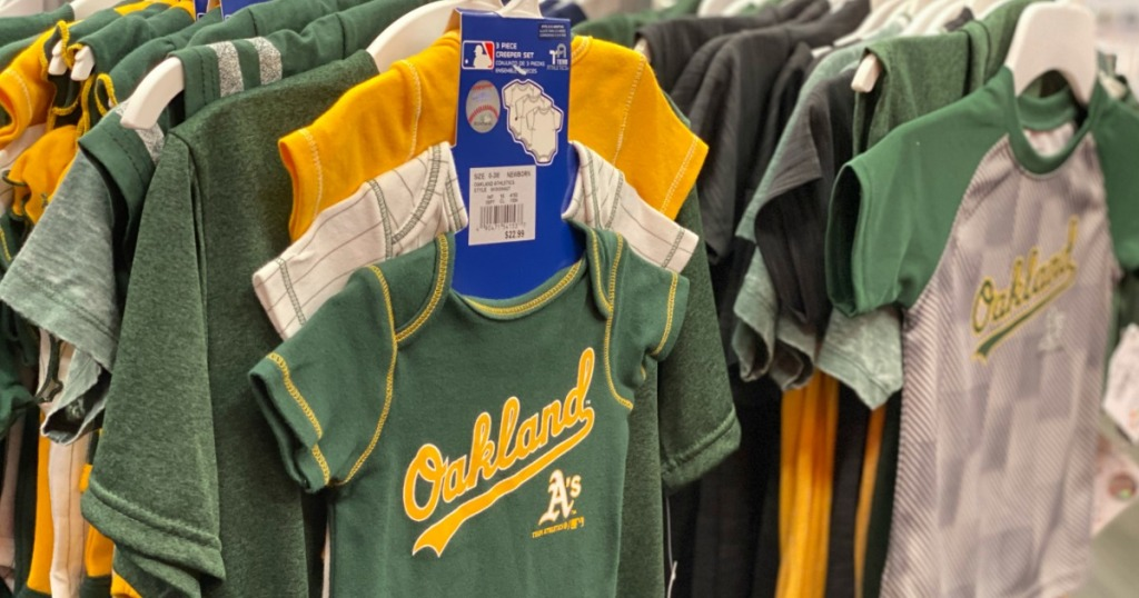 Oakland A's bodysuits