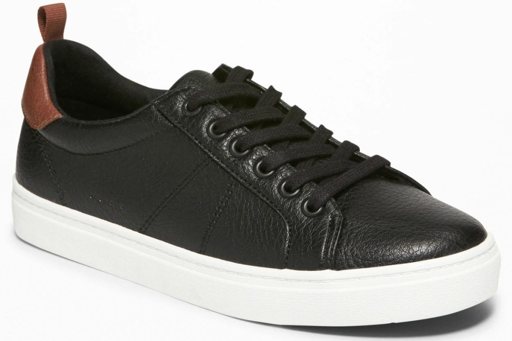 Boys black leather shoes from Old Navy