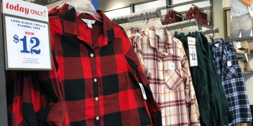 Old Navy Flannel Shirts for the Family Only $10-$12 (Regularly up to $36)