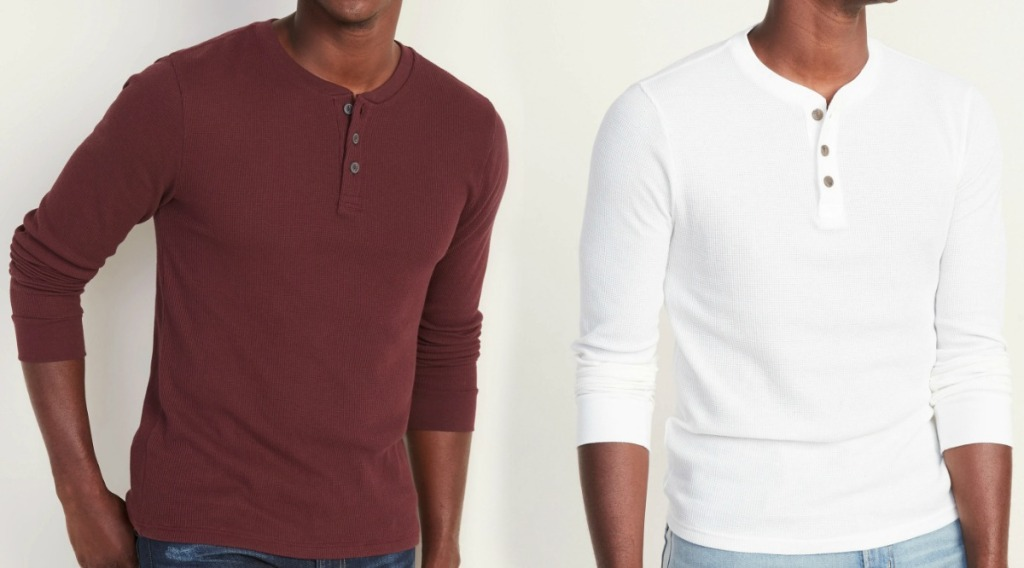 Old Navy Men's Thermal Knit Henley