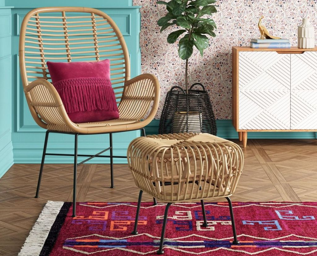 Opalhouse Lily Rattan Arm Chair