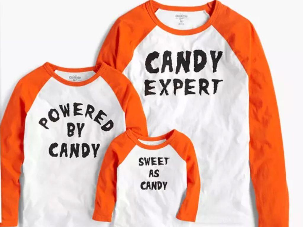OshKosh Halloween Candy Matching outfits