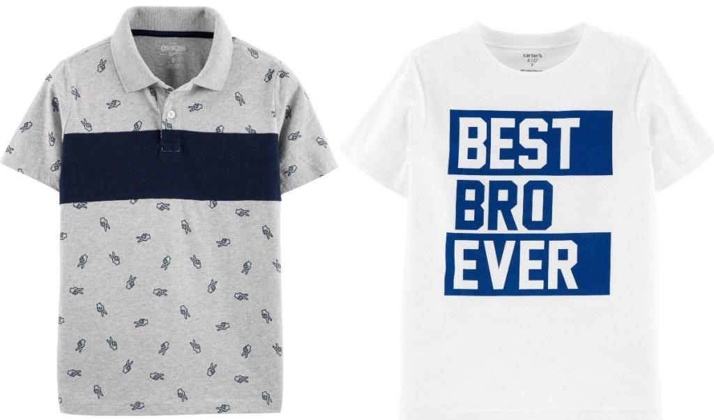 Oshkosh B'gosh Boys Shirts in two styles