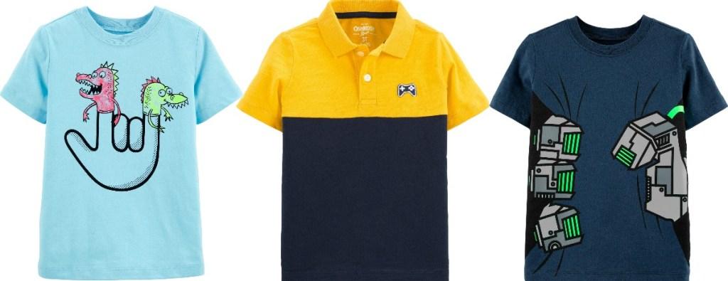 Oshkosh B'gosh Toddler Boys Shirts in various styles