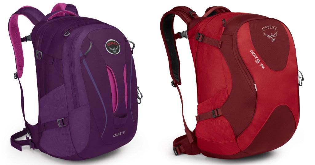 two osprey backpacks