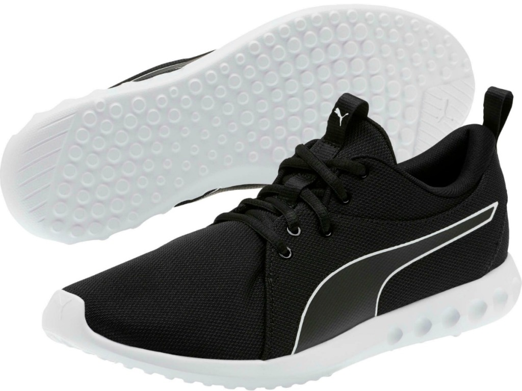 PUMA Men's Carson 2 Cosmo Running Shoes in black with white soles