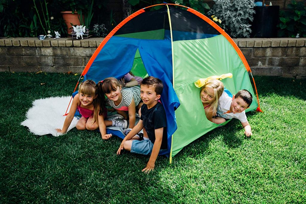 kids playing in Pacific Play Tent