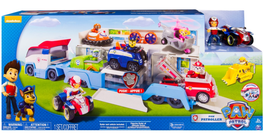 paw patroller rescue transport vehicle in box