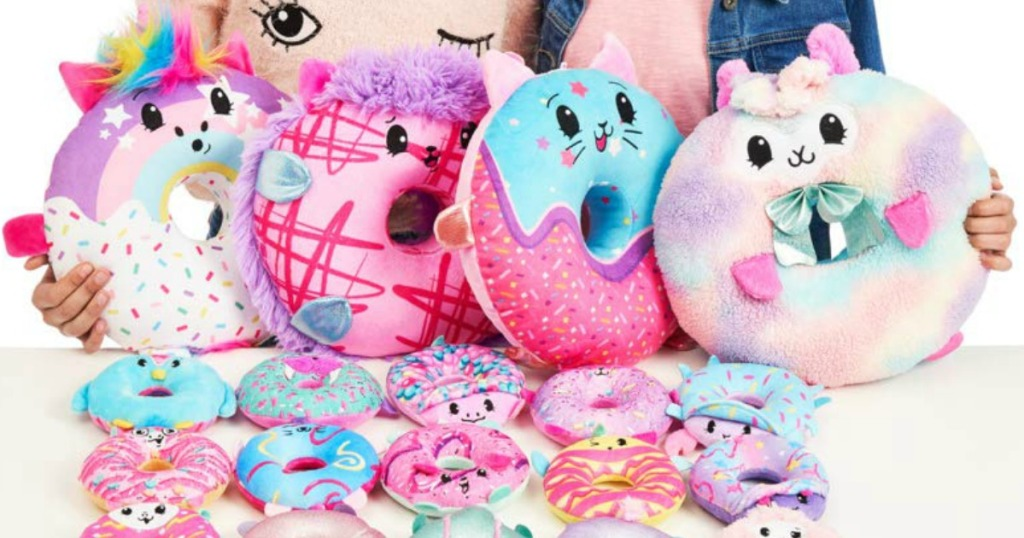 Large collection of Pikmi Pops Doughmi Plush toys on table