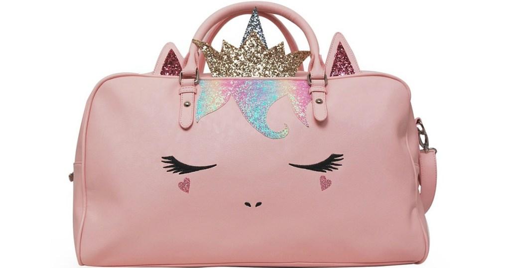 Pink Glitter Sugar Queen Gwen Duffel Bag