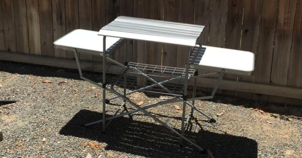 Portable Folding Grilling Table w/ Carrying Case outside