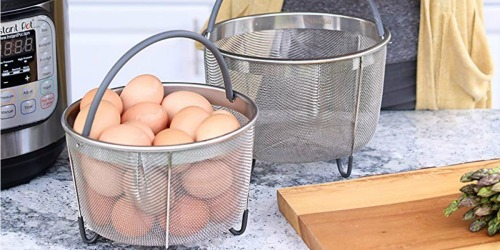 Up to 50% Off Pressure Cooker Steamer Baskets & Pans on Amazon