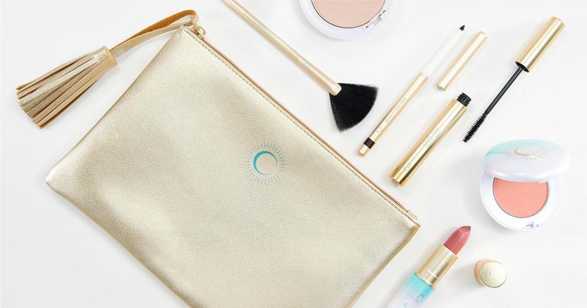 QVC Makeup bag with makeup products