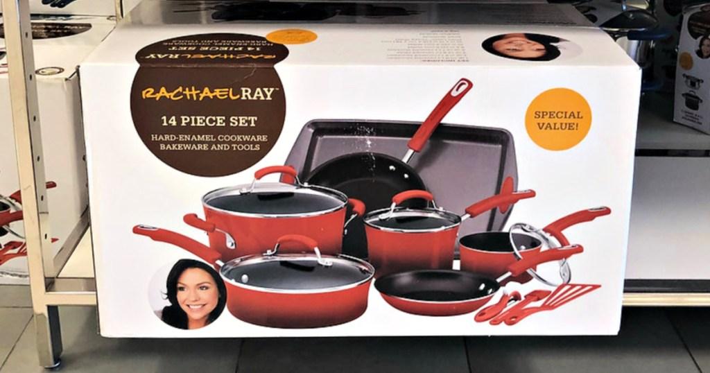 Rachael Ray 14-Piece Nonstick Cookware Set