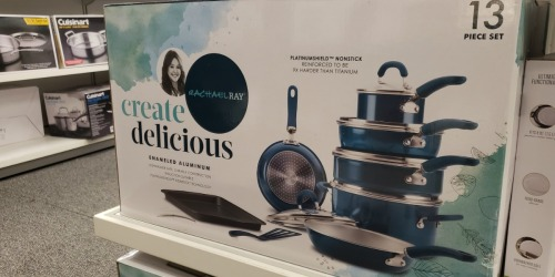Rachael Ray 13-Piece Cookware Set as Low as $54 Shipped After Rebate + Get $10 Kohl's Cash