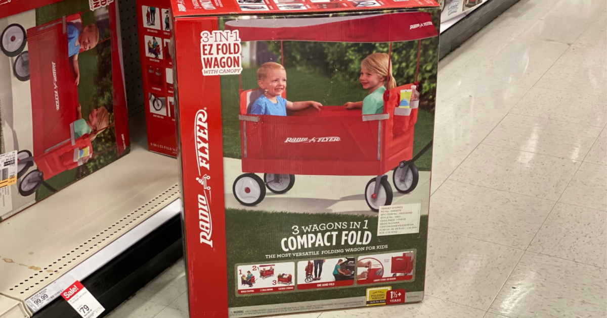 Ride On Cars Radio Flyer Ez Fold Wagon With Canopy Other