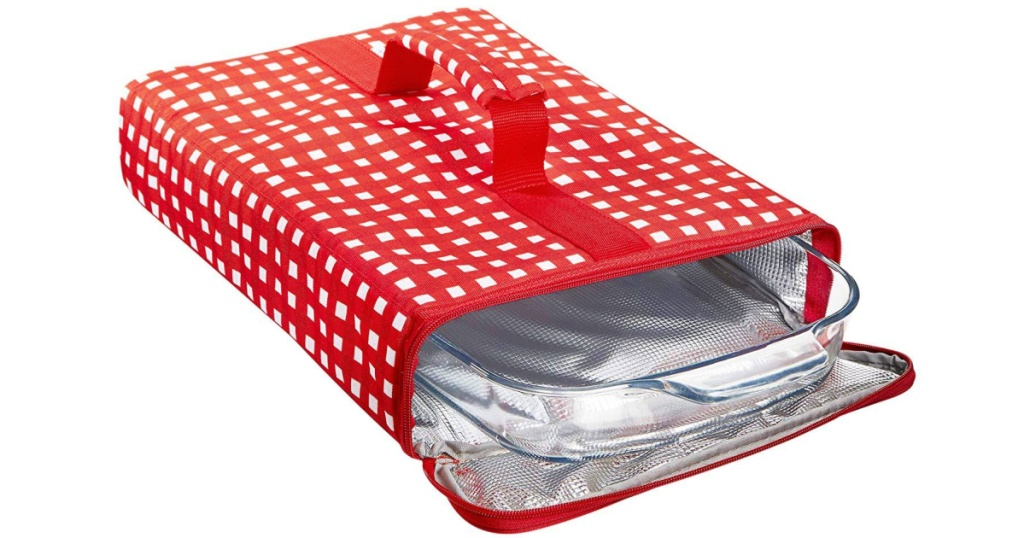 Red Gingham Insulated Casserole Carrier