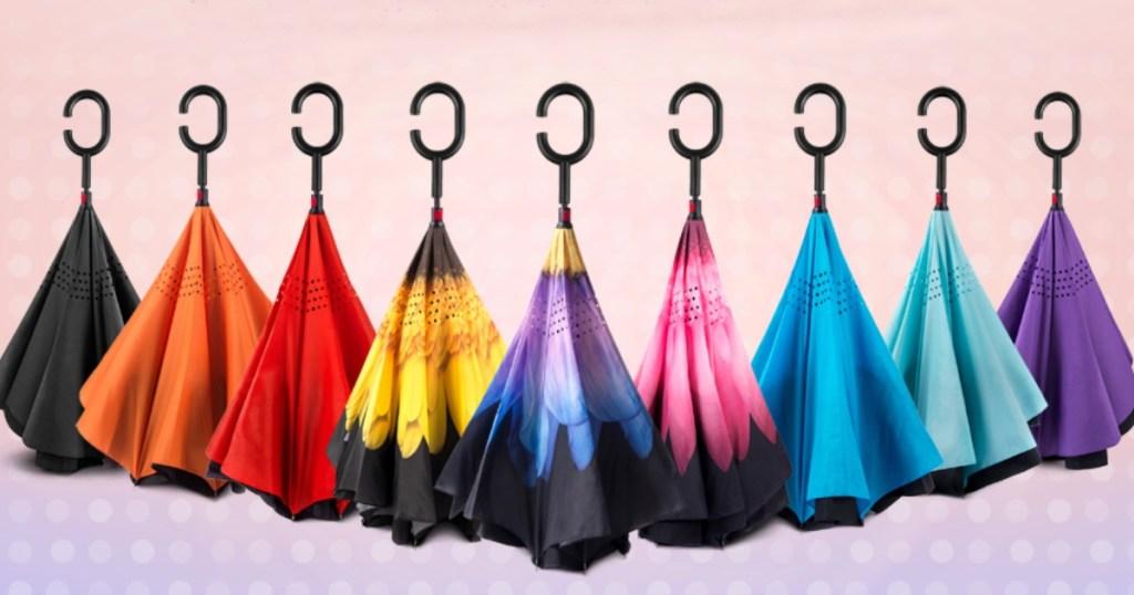 umbrellas in different colors