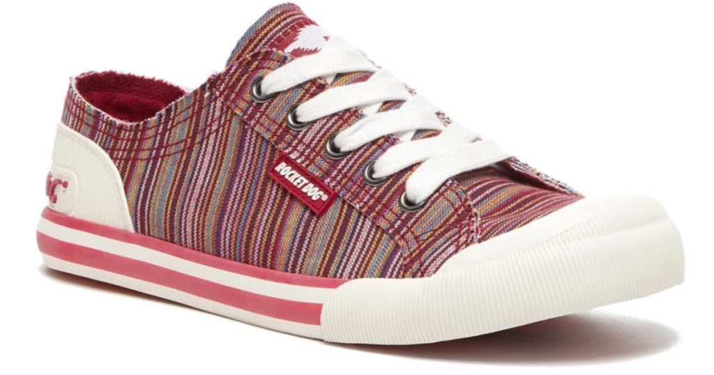 rocket dog red stripe sneaker