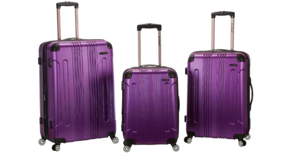 Rockland Sonic 3-Piece Hardside Spinner Luggage Set