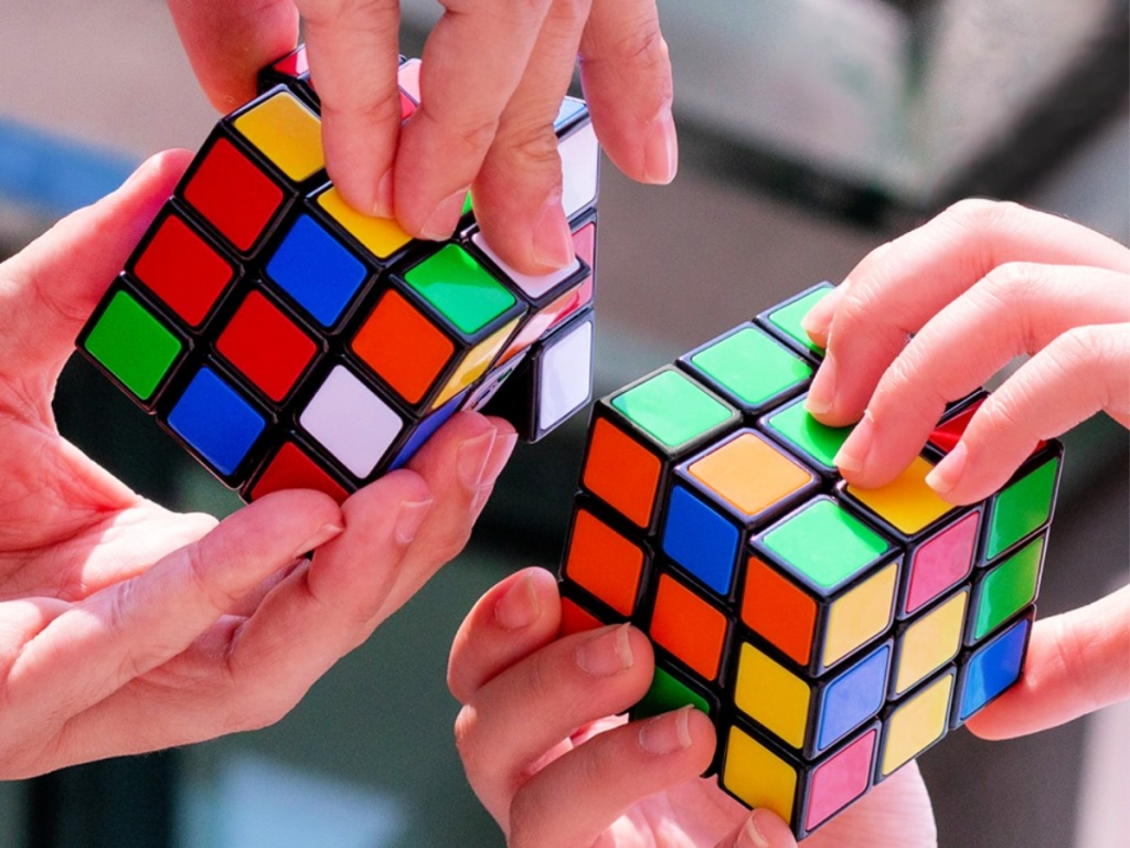 Rubik's Cube in hands