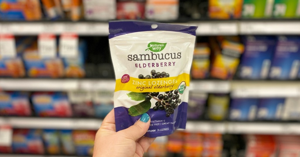 Sambucus Elderberry in hand at Target