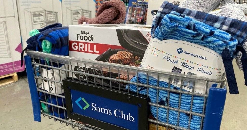 Sam's Club Cart with One day Sale Items