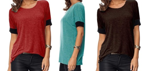 Sarin Mathews Loose-Fit Casual Tees as Low as $11 on Amazon