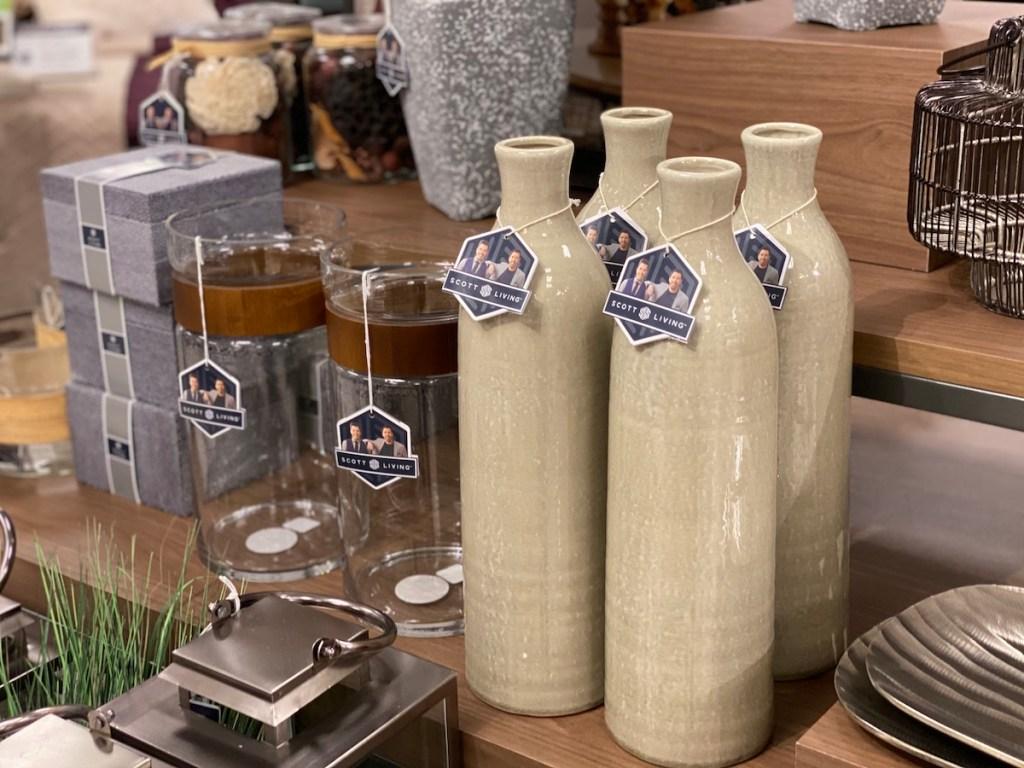 Scott Living Vases on shelf at Kohl's