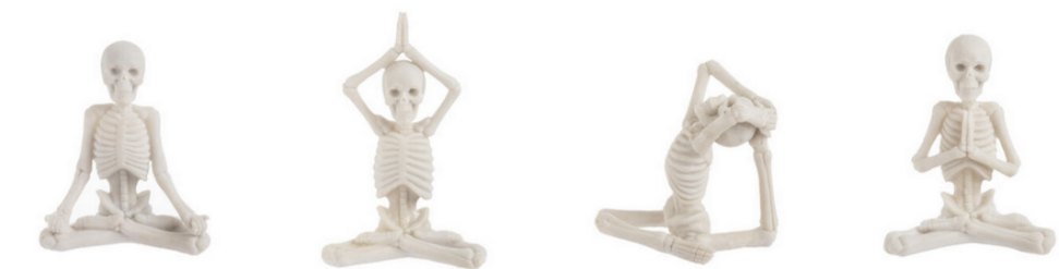 Halloween Yoga Skeletons in different poses