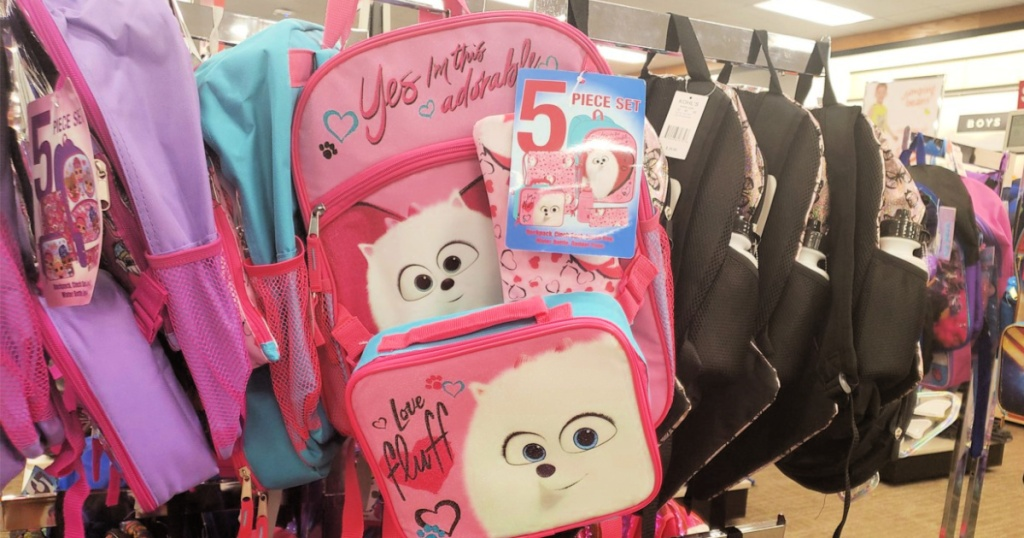 Secret Life of Pets 5-Piece Backpack Sets at Kohls