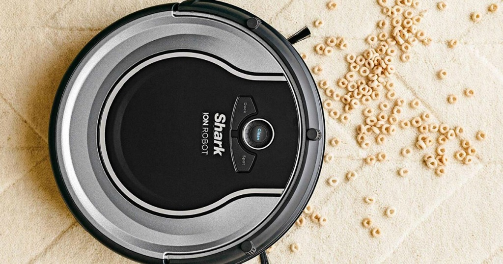 Shark Ion Vacuum cleaning up cheerios
