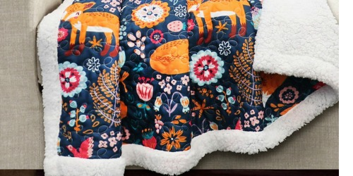 Sherpa Quilted Throws Only $19.99 at Zulily (Regularly $42+)