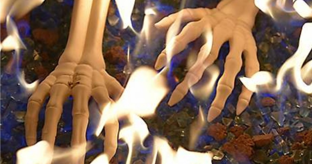 Skeleton Hand Logs