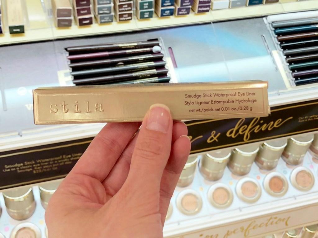 Stila eye liner in package in hand