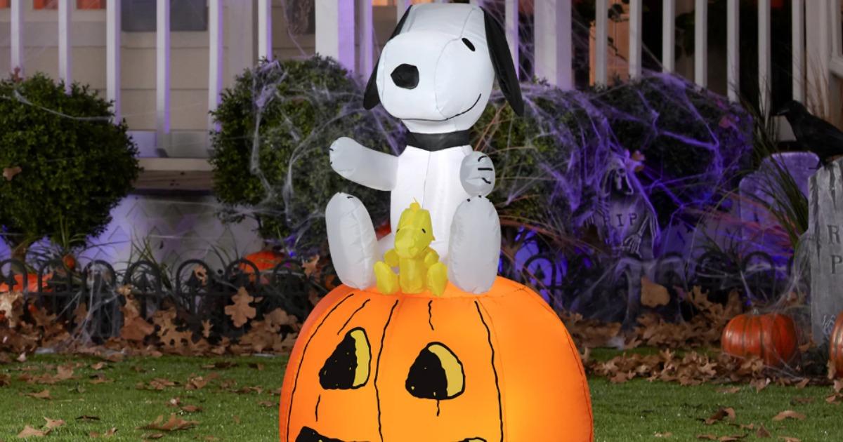 Snoopy on Pumpkin Halloween Decor