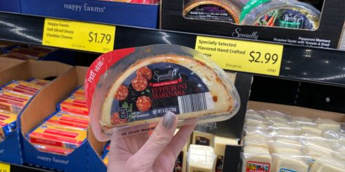 Flavored Crafted Cheeses Now Available at ALDI | Pepperoni Marinara, Roasted Garlic & More