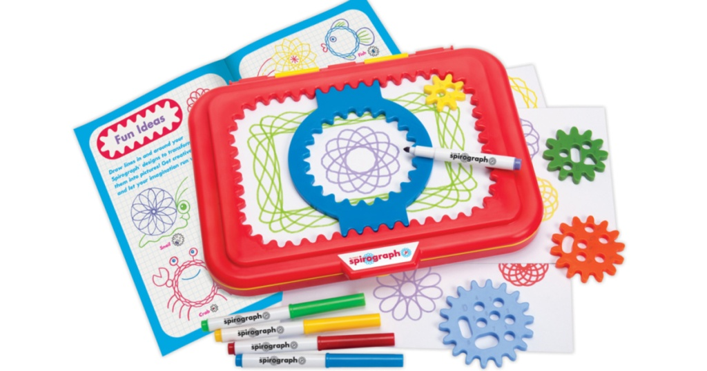 Spirograph Junior with contents open